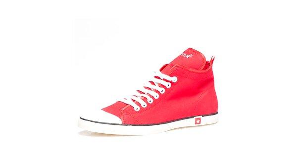 Dámské červené kotníkové tenisky Big Star 04270afd80