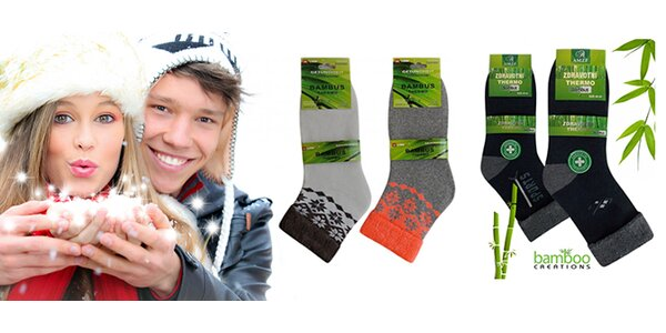 Dámské nebo pánské zateplené bambusové ponožky