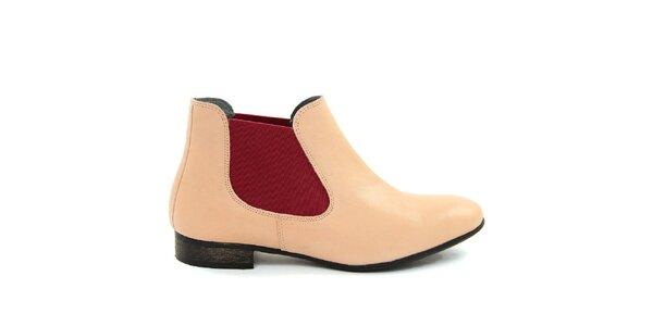 Dámské pudrové kotníčkové boty Giorgio Picino