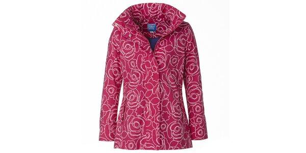 Dámská růžovo-bílá bunda do deště Happy Rainy Days