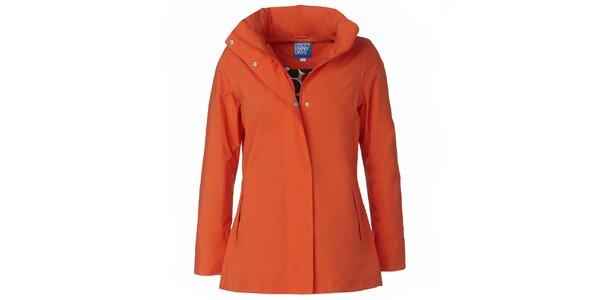 Dámská oranžová bunda do deště Happy Rainy Days
