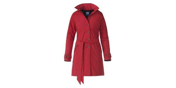Dámský červený zimní trenčkot Happy Rainy Days