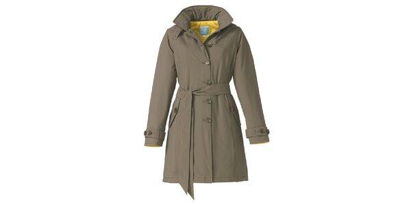 Dámský zimní khaki trenčkot Happy Rainy Days
