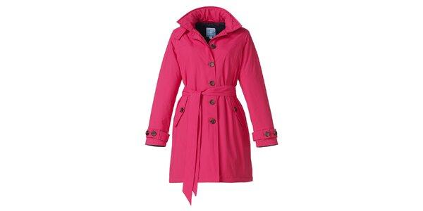 Dámský růžový zimní trenčkot Happy Rainy Days