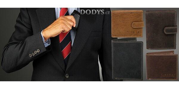 Pánské peněženky z broušené kůže