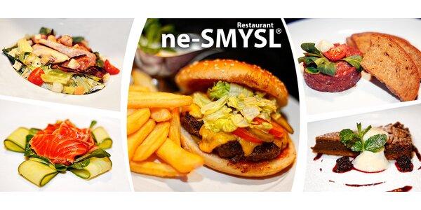 Vydatné tříchodové menu v restauraci ne-SMYSL