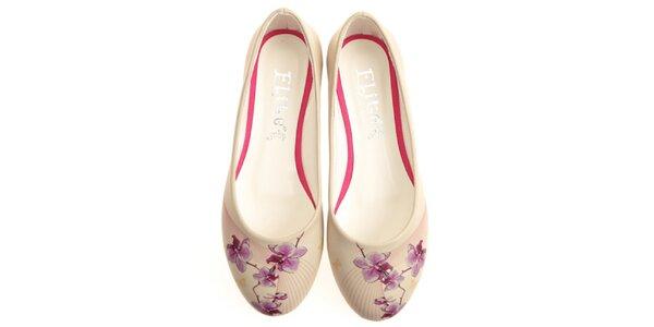 Dámské balerínky s potiskem květiny Elite Goby