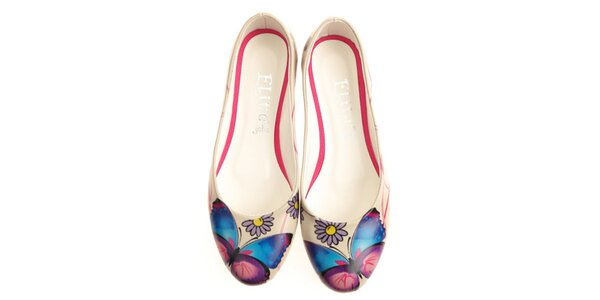Dámské balerínky s barevným motýlem Elite Goby