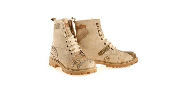 Dámské kotníkové boty s poštovními motivy Elite Goby