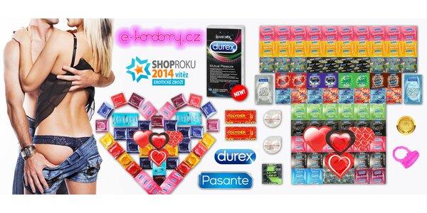 Valentýnské balíčky až 84 kondomů Durex a dalších značek