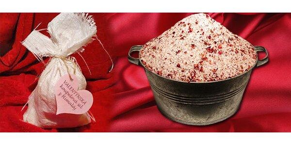 Valentýnská přírodní himalájská sůl do koupele 1kg