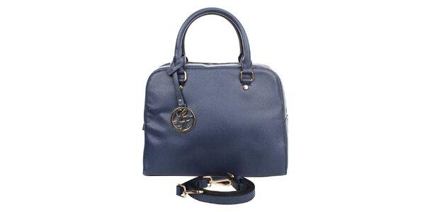 Dámská tmavě modrá kabelka s kulatým přívěskem London fashion