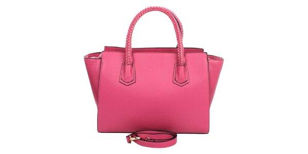 Dámská růžová kabelka s ozdobnými poutky London Fashion