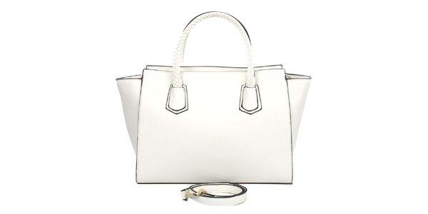 Dámská bílá kabelka s ozdobnými poutky London Fashion