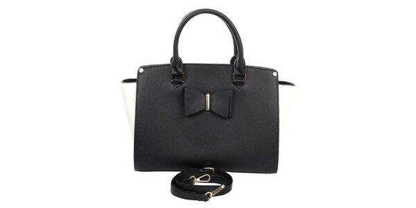 Dámská černo-bílá kabelka London Fashion
