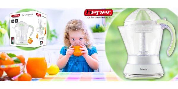 Čerstvá šťáva každý den s elektronickým citrusovačem Beper