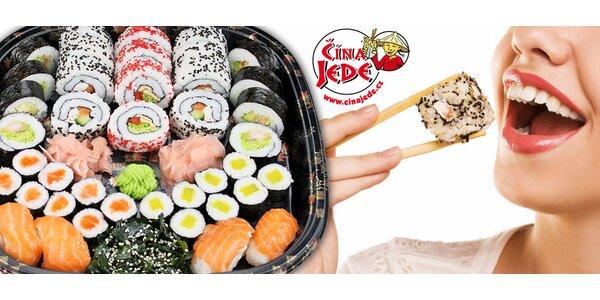 40 kousků lahodného sushi s rozvozem až domů