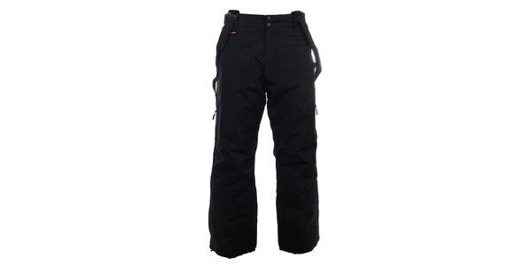 Pánské černé lyžařské kalhoty s kšandami Trimm