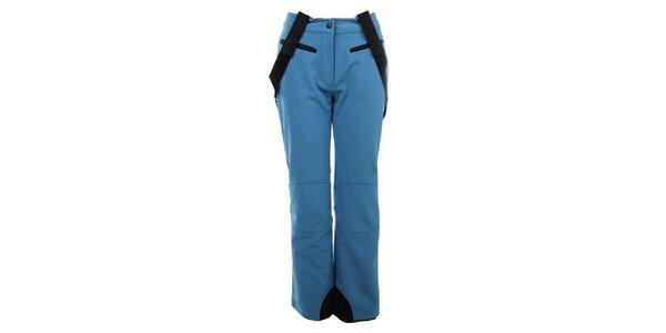 Dámské světle modré zateplené kalhoty s kšandami Trimm