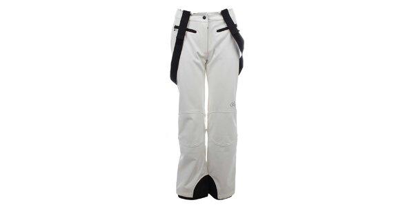 Dámské bílé zateplené kalhoty s kšandami Trimm