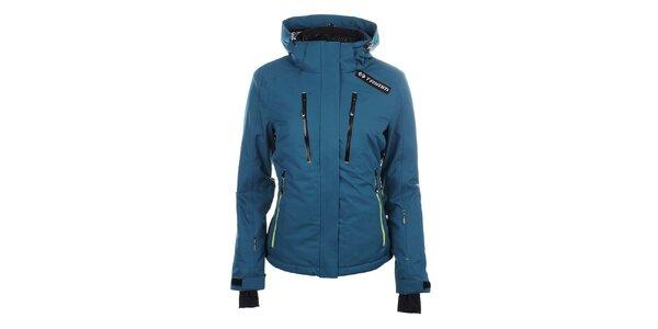 Dámská modrá lyžařská bunda s kapucí Trimm