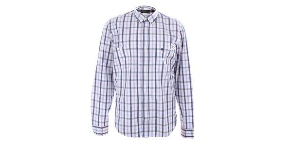 Pánská károvaná košile s dlouhými rukávy Pietro Filipi