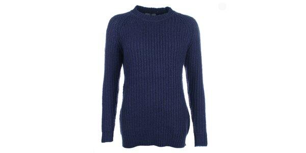 Dámský modrý svetr s kulatým výstřihem Pietro Filipi