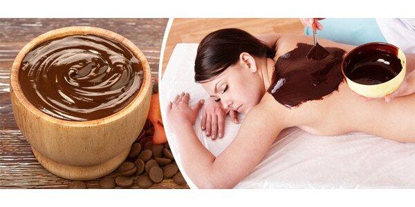 Luxusní čokoládová masáž celého těla včetně obličeje