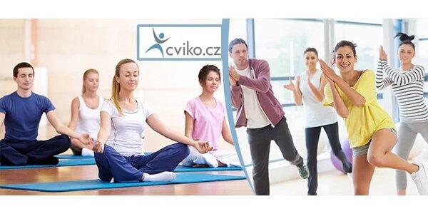 5 lekcí různých druhů cvičení dle vlastního výběru