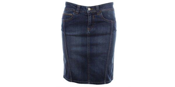 Dámská modrá džínová sukně do pasu Big Star