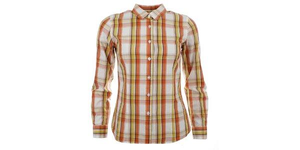 Dámská oranžovo-bílá košile se žlutými prvky Big Star