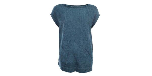 Dámský šedomodrý svetr s krátkými rukávy Big Star