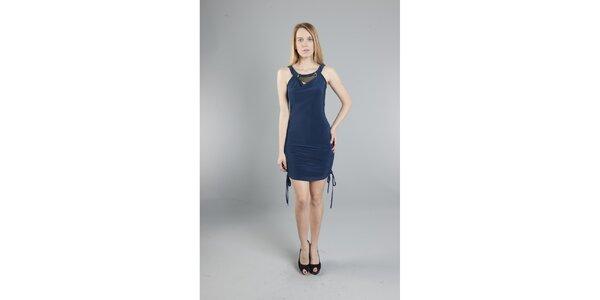 Dámské tmavě modré šaty Via Bellucci se zipem