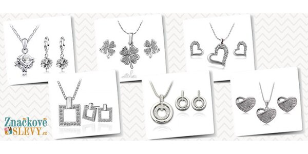Romantický set šperků s českými krystaly