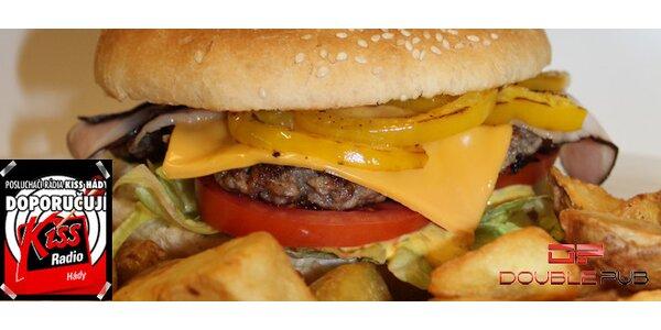 Dvě šťavnatá burger menu v Double Pubu