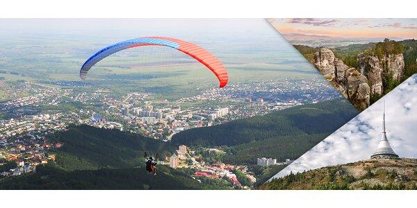 Paraglidingové lety - tandem se zkušeným pilotem