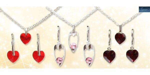 Souprava luxusních šperků s krystaly