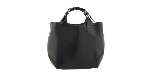 Dámská černá kožená kabelka Ore 10