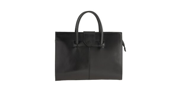 Dámská černá kožená kabelka obdélníkového tvaru Ore 10