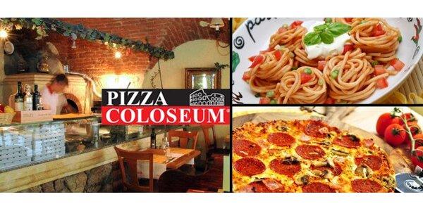 250 Kč na konzumaci libovolných jídel v pizzerii Coloseum v hodnotě 500 Kč.