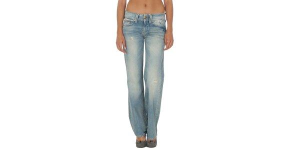 Dámské světle modré džíny s prodřeninami a šisováním Tommy Hilfiger