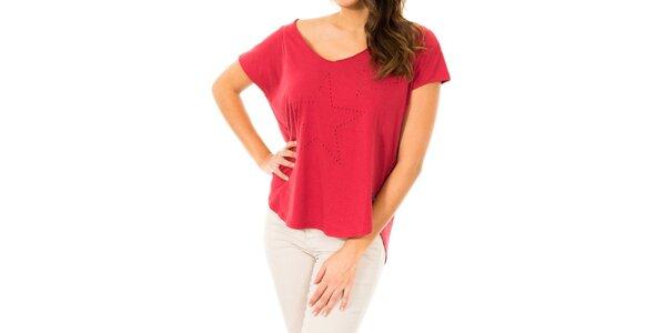 Dámské červené tričko s hvězdami Tommy Hilfiger