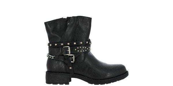 Dámské černé boty se cvočky Vanessa Wu