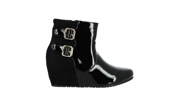 Dámské černé boty na klínku Bellucci