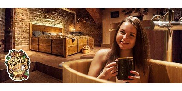 Léčivá pivní nebo vinná lázeň s neomezenou konzumací v Praze