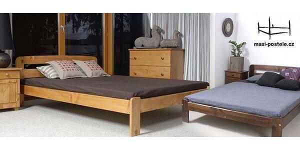 Kvalitní postele z masivní borovice