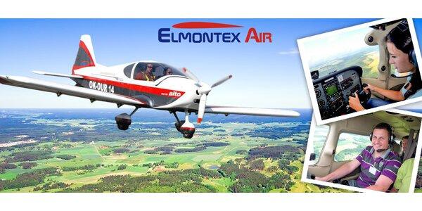 Vyhlídkový let nebo pilotování ultralightu