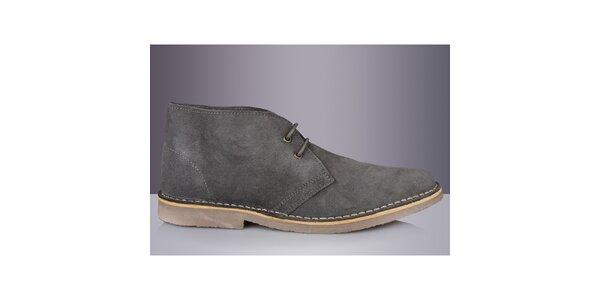 Pánské šedé kotníkové boty Roamers