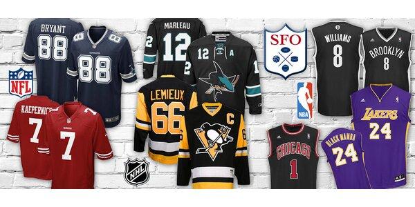 Fanouškovské sportovní dresy – NHL, NFL i NBA