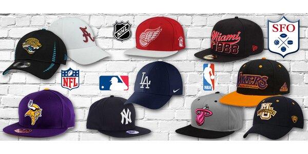 Licencované kšiltovky týmů z NBA, NHL a další